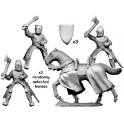 Crusader Miniatures MCF012 Mounted knights with axes & maces