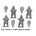 Crusader Miniatures DAB013 Byzantine Heavy Skutatoi Advancing