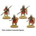 Crusader Miniatures DAB014 Byzantine Skutatoi advancing - Lammelar Armour