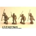 Crusader Miniatures DAI001 Irish Warriors with spear & buckler I