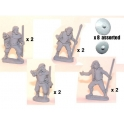 Crusader Miniatures DAI002 Irish Warriors with Javelins & Buckler