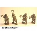 Crusader Miniatures DAI007 Guerriers nobles irlandais avec hâche à deux mains