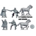 Crusader Miniatures DAE011 Personalities Pedro Bermudez and King Alfonso