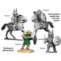 Crusader Miniatures ANG005 Equites (2 foot, 2 mounted)