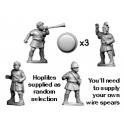 Crusader Miniatures RFA024 Unarmoured Greek Hoplite Command
