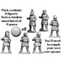 Crusader Miniatures RFA023 Unarmoured Greek Hoplites