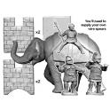 Crusader Miniatures ANC012 Elephant & 3 crew