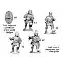 Crusader Miniatures ANS002 Spanish Scutari with spear - charging
