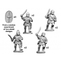 Crusader Miniatures ANS004 Spanish Scutari with sword - Charging