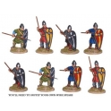 Crusader Miniatures DAN004 Unarmoured Norman Spearmen