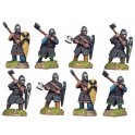 Crusader Miniatures DAN007 Dismounted Norman Knights with Axes