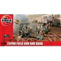 airfix 01305 canon de  25-pounder et Quad Tractor