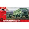 airfix 01314 Matador et canon de 5.5 pdr