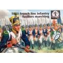 walerloo1815 AP61 Infanterie de ligne française en marche