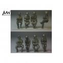 Xan miniatures HV02 soldats allemands assis