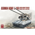 modelcollect 72097 E-100 super panzer 128mm flak 40 zwilling